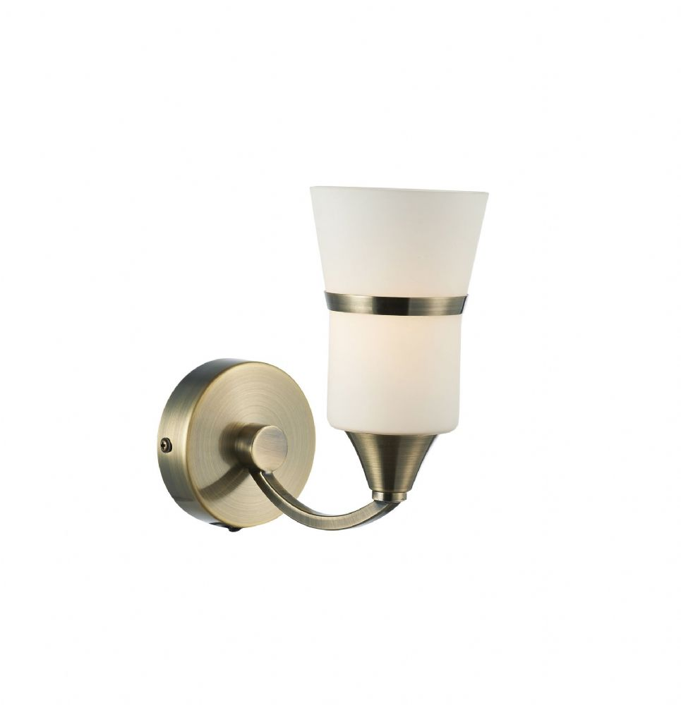 Dublin Single Wall Bracket Antique Brass Led  (Class 2 Double Insulated) BXDUB0775/LED-17